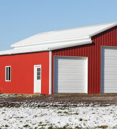 A fully repaired barn by Metal Building Repair Contractors in Rock Island IL