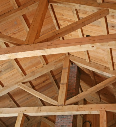 The interior of a barn after Post and Beam Barn Repair in Princeton IL