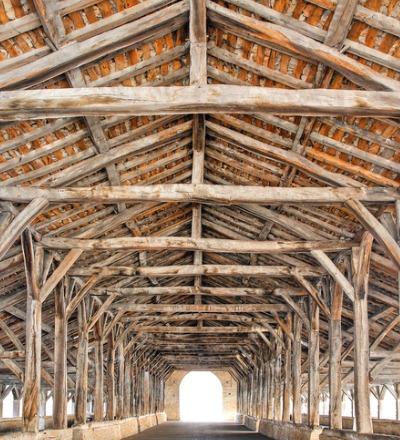 The interior of an older barn needing Post and Beam Barn Repair in Princeton IL